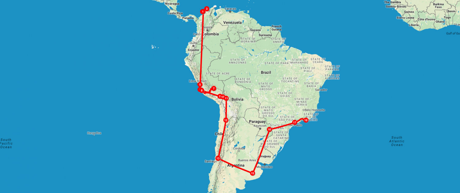 South America On A Shoestring 656 585 Itinerary From Colombia To Brazil